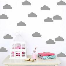 Cute Cloud Art Wall Sticker for Girl Bedroom Decor | Fun Decal Baby Nursery Room