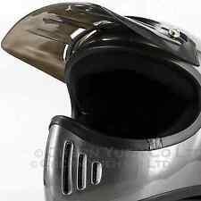 CYC 3-Snaps Peak Visor Smoke Duck Long Visor Vented Duckbill for Helmets SHOEI