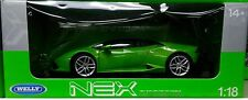 Lamborghini Huracan LP610-4 Die-cast Car 1:18 Welly 9 inches Green