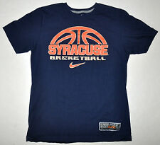 Nike Elite NCAA Dark Blue Orange Standard Fit Syracuse Basketball T-Shirt Medium