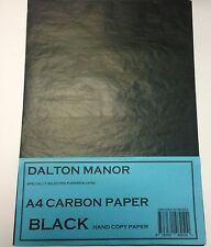 12 SHEET A4 CARBON PAPER  HAND COPY  - BLACK