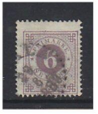 Sweden - 1877, 6 ore (Perf 13) - Used - SG 19ab/ba (e)