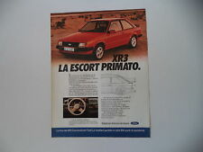 advertising Pubblicità 1980 FORD ESCORT XR3 XR 3