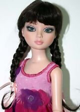 Black Wig with Braids & Bangs Size 6-7  Ellowyne Evangeline Tonner - La Belle