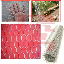 2 X NEW GALVANISED WIRE NETTING FENCING MESH CHICKEN RABBIT NET FENCE 0.9M X 10M