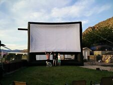 New Infla8 brand 30 X 17 foot Inflatable Movie Screen Front and Rear Projection