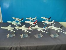 10PCS AIRBUS A380 Passenger Airplane Alloy Plane Metal Diecast Model Collection