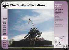 THE BATTLE OF IWO JIMA Marines Flag Raising Statue GROLIER STORY OF AMERICA CARD