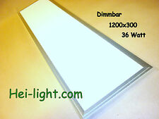 "LED Deckenlampe "" Panel-light"" komplett Long 1200x300, dimmbar, Warm-Weiß"