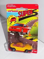 Majorette SUPERS 230 Series No 203 / 205 Ford Mustang GT Yellow On French Card