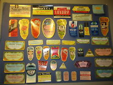 Set of 46 Old 1910's-1950's - BUERGER BROS. - Hair & Beauty Product Labels