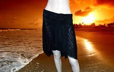 NWT GOTTEX PROFILE black SHEER Bathing Suit COVER UP SKIRT size-  1X 1 x $98