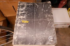 YALE Model MCW 2000 2500 3000 4000 Lbs Forklift Parts Manual book catalog 1987
