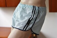 DDR T.M. Boutique Sprinter eisblau D8 Shorts 70s Shiny silky TRUNKS True VINTAGE