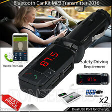Bluetooth Wireless FM Transmitter Radio Car Kit MP3 Music Player With 2 USB Port