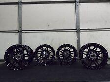 "12"" STI HD3 BLACK  ATV WHEELS COMPLETE SET 4  LIFETIME WARRANTY  POL3CA"