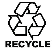 RECYCLE BIN VINYL DECAL STICKER RECYCLING RUBBISH TRASH CAN WATERPROOF TRANSFER