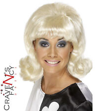Años 60 Flick, Peluca Rubia Para Mujer Damas Hairspray Fancy Dress Costume Cilla Black