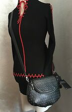 MARC BY MARC JACOBS Classic Q Degrade Studs Natasha Crossbody Leather~NWT Black