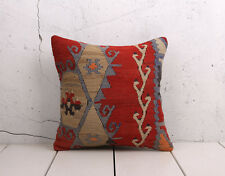 "16"" x 16"" Pillow Cover Kilim Pillow Cover VINTAGE FREE Shipment With UPS 05308"