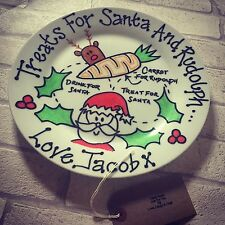 Christmas Eve Plate, Personalised, Santa & Rudolph Treat Plate, Christmas Plate