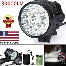 30000LM 12 x CREE XM-L T6 LED 6 x 18650 Bicycle Cycling Light Waterproof LampA