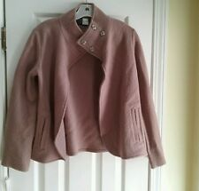 NWT $200 Saks Fifth Avenue women's cappuccino 100% wool jacket coat size XS