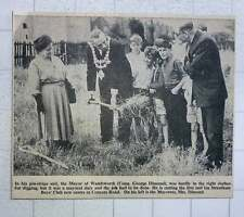 1960 Councillor George Dimond Cutting Turf Streatham Boys Club New Centre Conyer