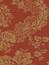 Red Gold Sponged Floral Damask Wallpaper Double Roll Bolts FREE SHIPPING