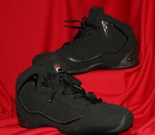 FILA:  Black with Silver Stripes Men Athletic Shoes