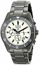 Bulova Men's 98B205 Chronograph Gray Stainless Steel Watch