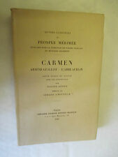 """Prosper Mérimée """"Carmen"""" """"Arsène Guillot"""" """"L'Abbé Aubain"""" TL & Num /Champion"""
