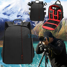 Red Durable Waterproof DSLR Backpack Case Bag For Canon Nikon Sony Camera Lens