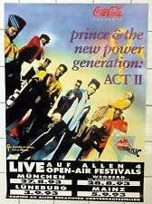 "PRINCE • ""ACT II – ROCK OVER GERMANY"" • 1993 Concert Poster • PLUS FREE Poster!!"