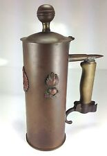 WW I Trench Art Covered Tankard Royal Engineers & French Ordinace Bayonet Handle