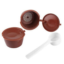 2x Refillable Reusables Coffee.Capsule Pods Cups for Nescafe Dolce Gusto Machine