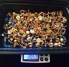 205 Grams 10/ 14K GOLD Filled /RGP Cufflinks Studs MIX LOT SCRAP REFINE RECOVERY