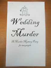 Murder Mystery Party Game for 10 people: Wedding Murder - Buy one get one FREE!!