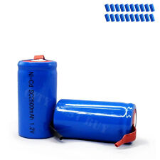 20 x Sub C 1.2V 2500mAh Ni-Cd Rechargeable Battery Blue