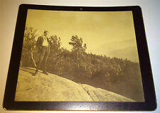 Antique American Dandy! Mountaintop Binoculars Outdoor Landscape Cabinet Photo!