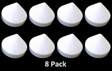 "Marine Boat Dock 9"" Piling Cone 8 Pack White Pylon Cap Covers"