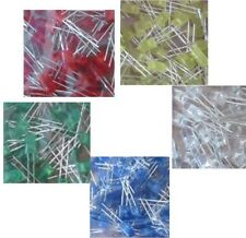100x 100pcs 5mm LED 20 Of Each Colour Bright White,Blue, Green,Yellow, Red £3.29