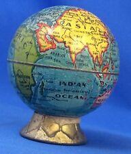 Original Vintage Tin Litho Miniature GLOBE Earth School PENCIL SHARPENER Germany
