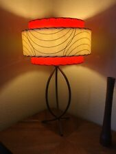 Mid Century Vintage Style 3 Tier Fiberglass Lamp Shade Atomic  Orange
