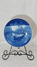 SALE VNT 1969 B&G Christmas Plate Arrival of Christmas Guests Jule After Denmark