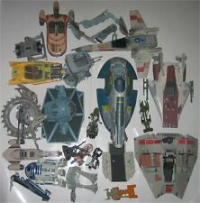 Star Wars Vehicle Hasbro Land Speeder X-Wing Tie Fighter Vintage Toy Lot