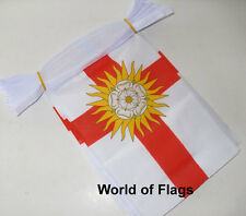 WEST RIDING of YORKSHIRE FLAG BUNTING 9m 30 Fabric Party Flags English County