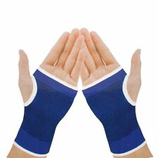 New 2 x Hand Palm Wrist Glove Supports Brace Bandage Wrap Sprain Twist Blue UK