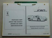 Ferrari F50 Prontuario Tempi Service Times 0131/95 Arbeitsrichtzeiten book buch