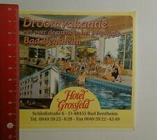 Aufkleber/Sticker: Hotel Grossfeld Bad Bentheim (03101612)